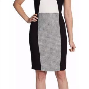Calvin Klein Dresses - Calvin Klein Color Block Tweed Sheath Dress 2